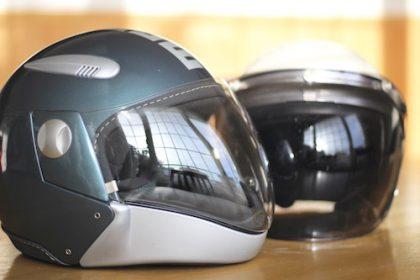 整理収納 バイクのヘルメット